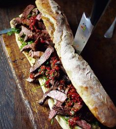 4 Him 'n' Her: Jamie Oliver's Steak Sarnie a.k.a Ultimate Steak Sandwich - super good with added blue cheese