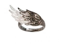 AS29 - Black and White Gold, with black and white diamonds wing ring ~4'700 Euros