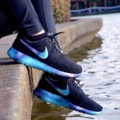 Women's Custom Nike Roshe Full Galaxy Shoe