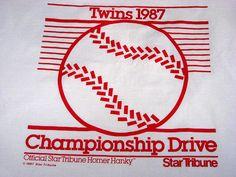 1987 Homer Hanky, used to cheer on the Minnesota Twins during their championship season. Minnesota Twins Baseball, Minnesota Home, Twin Cities, Minneapolis, Iowa, Childhood Memories, Growing Up, Sports Teams, Leeds
