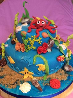Onder zee taart