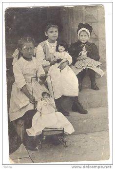 RP: Girls with dolls , PU-1908 , Kansas City , Missouri - Delcampe.com