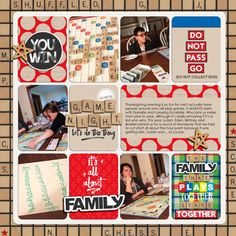 Digital Layout by Valerie using Family Game Night by Traci Reed