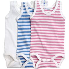 Organic Summer Striped Babybody One Piece by Under the Nile Organics at BabyEarth.com, $12.95