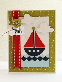 Love the color scheme - would make a great baby boy card
