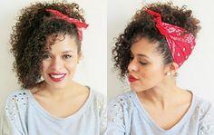penteado com bandana para cabelo cacheado - Pesquisa Google