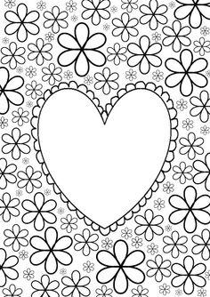 Jalien Cozy Living: DIY Kleurplaat voor volwassenen, maar ook voor meisjes uit de klas (Valentijn)