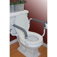 Toilet Support Rail Safety Aid up to 300lbs Support Bars Elderly Bathroom Seat #Carex