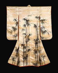 Gion Nankai | Overrobe (Uchikake) with Bamboo | Japan | Edo period (1615–1868) | The Met