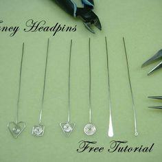 Five Styles of Fancy Headpins | JewelryLessons.com #jewelrymaking #jewelryartist
