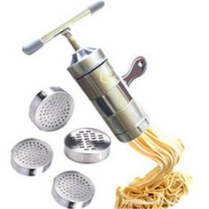 Find More Pasta Machines & Attachments Information about Pasta machine Creative Stainless steel manual pasta machine Small household pressing machine kitchen tools 6*6*18cm 667g H 146,High Quality Pasta Machines & Attachments from NO.1 Kitchen Supply  Mall on Aliexpress.com