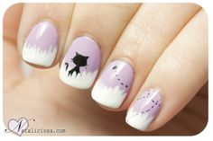 image discovered by fffff. Discover (and save!) your own images and videos on We Heart It Kawaii Nail Art, Cat Nail Art, Animal Nail Art, Cat Nails, Cat Nail Designs, Manicure Nail Designs, Nail Manicure, Nails Design, Lily Nails