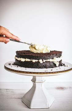 Inspiration for this chocolate and lavender infused cake came from a special occasion. I wanted to make an impressive cake for my unofficial godmother's birthday!