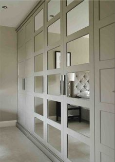 Like the balance of mirrors in the wardrobe doors.