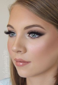 Lovely long lashes, nicely made up eyes, and great gloss!