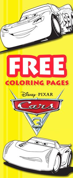 Cars 3 Coloring Printable - free printable coloring sheets.  Print Lightning McQueen, Jackson Storm, and Cruz Ramirez coloring pages from your home computer!
