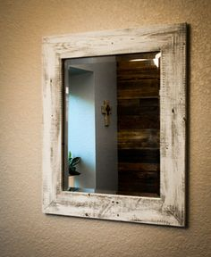 Barnwood Framed Bathroom Mirrors diy rustic mirror (and a half bath update | rustic, diy and crafts