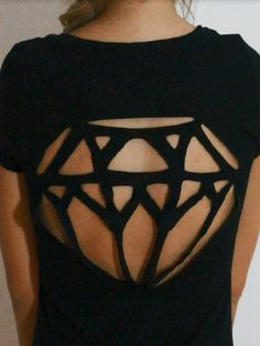 diy cutout shirt... Want to make this for a Marina and the Diamonds concert!!