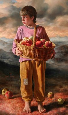 Arsen Kurbanov b 1969 - Russian Portrait painter Image Halloween, Cheap Canvas Prints, Hyper Realistic Paintings, Image Nature, Apple Art, Art Themes, Russian Art, Beautiful Paintings, Belle Photo