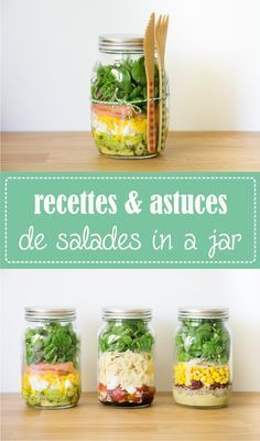 Healthy Food Salade in a jar - mason jar bocal - astuces et recettes sur la Godiche www.fr How to lose weight fast ? Salad In A Jar, Salad Bar, Super Dieta, Salad Recipes, Healthy Recipes, Meals In A Jar, Batch Cooking, How To Cook Quinoa, Snack