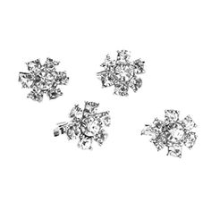 Tinksky 4pcs Mini Rhinestone Flower Pin Brooch Clips for Clothes Shoes Bag Decoration *** Details can be found by clicking on the image.Note:It is affiliate link to Amazon. #sweet
