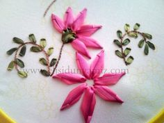 Silk Ribbon Embroidery Instructions | Silk Ribbon embroidery tutorials | enbrouderie