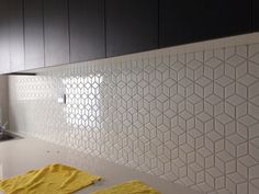 Beautiful diamond mosaic splashback