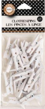 White Mini Clothespins