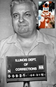 John Wayne Gacy was a serial killer who murdered at least 30 teenage boys and young men between 1972 and 1978 in the Chicago area. Click to read more. #truecrime Famous Serial Killers, Creepy History, Joker Clown, John Wayne Gacy, Criminology, American Actors, American Crime, True Crime, Comedians