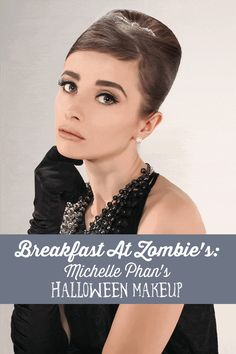 """Is this an Audrey Hepburn costume or a zombie-back-from-the-dead costume?  Makeover maven Michelle Phan shows us how to put together a Halloween look that evokes both the grace of Holly Golightly in """"Breakfast at Tiffany's"""" and the scare factor of a zombie risen from the grave."""
