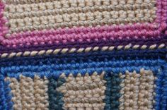 Learn seven different methods for joining granny squares, crocheted squares, crocheted motifs, or other crocheted pieces together.