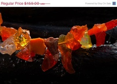50 OFF SALE fire Opal Necklace by Beijo Flor by BeijoFlor on Etsy, $79.50