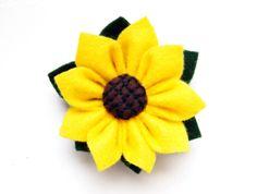 sunflower with felt