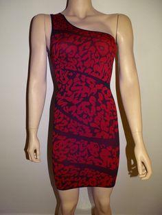 NWT Sexy Stretchy Bodycon One Sholder Clubwear Cocktail Mini Top Dress OZ #FabricFabric #StretchBodycon #Clubwear