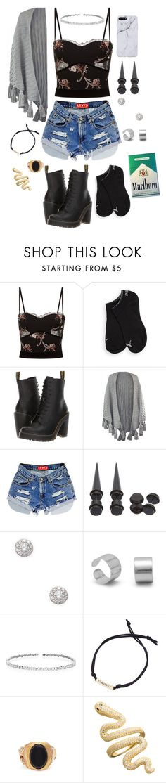 """""""My Outfit 3"""" by babydoll-devil17 ❤ liked on Polyvore featuring La Perla, Puma, Dr. Martens, Hot Topic, EF Collection, Suzanne Kalan, Fad Treasures, Valentino, cute and outfit"""