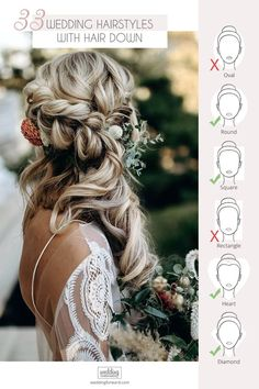 33 Wedding Hairstyles With Hair Down ❤ Wedding hairstyles with hair down are perfect for spring or summer celebration. Have inspired with our wedding hairstyle ideas for hair down. #weddings #bride #weddinghairstyles #weddinghairstylesdown