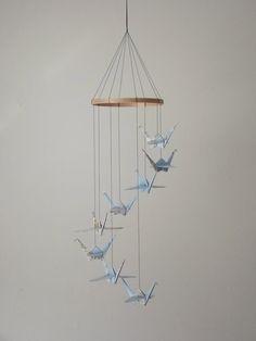 Children Decor Origami Crane Mobile Baby by SpareBedroomStudio