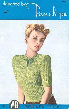 vintage ladies knitting pattern
