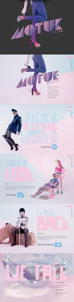 Motuk. Harmonic tone, stylish design. #webdesign (View more at www.aldenchong.com) Web Ui Design, Design Social, Blog Design, Branding Design, Web Layout, Website Layout, Layout Design, Site Web, Mobile Design