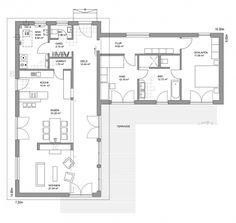 Grundriss bungalow l-form  Bungalows, barrierefreies Wohnen auf einer Ebene - Bauunternehmen ...