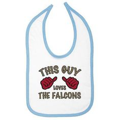 This guy #loves the falcons #infant bib atlanta #football nfl teams soft comfy,  View more on the LINK: http://www.zeppy.io/product/gb/2/121818790449/