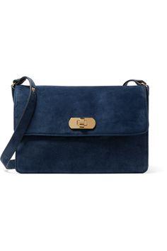 32838996798 MARNI Suede Shoulder Bag. #marni #bags #shoulder bags #hand bags #canvas  #suede #lace #