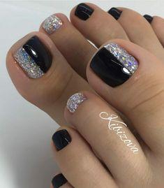Purple Toe Nails, Pretty Toe Nails, Cute Toe Nails, Toe Nail Color, Summer Toe Nails, Fancy Nails, Toe Nail Art, Gorgeous Nails, Pedicure Designs