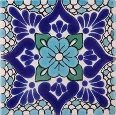 I think its neat that russian folk art tiles and mexican folk art tiles look a lot alike. Would love to incorporate this