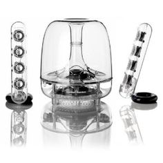 Harmon Kardon Soundsticks III: Classic good looks, part of the permanent collection at MOMA, and incredibly capable. $164. #Speakers #Harmon_Kardon_Soundsticks_III