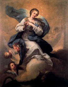 Galería Pintores Españoles :: Francisco Bayeu y Subías Inmaculada. 1765. Óleo sobre lienzo, 1,39 x 1,11 cm. Bienes Tangibles. AFINSA. S.A. Madrid.