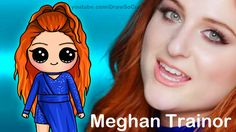 How to Draw Chibi Meghan Trainor step by step 'Me Too' Music Video