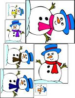 A cute way to sort from smallest to largest using the snowmen...downloadable