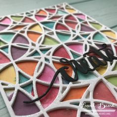 Colorful Stained Glass Coverplate: Blog Hop