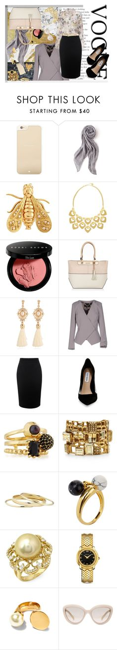 """""""Fancy mood"""" by addorajako ❤ liked on Polyvore featuring Kate Spade, Stella & Dot, Chaumet, Trina Turk, Bobbi Brown Cosmetics, River Island, Elisabetta Franchi, Intimissimi, Alexander McQueen and Steve Madden"""